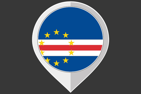 cape: A Pointer with the flag of Cape Verde Illustration