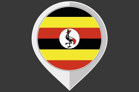 uganda: A Pointer with the flag of Uganda