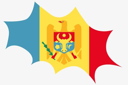 wit: An Explosion wit the flag of Moldova
