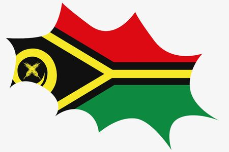 wit: An Explosion wit the flag of Vanuatu