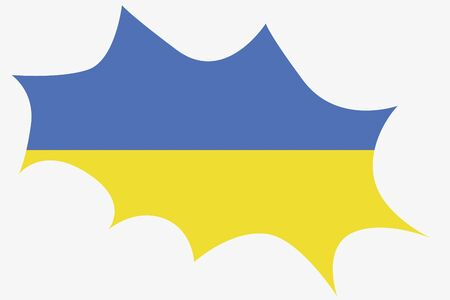 wit: An Explosion wit the flag of Ukraine Illustration