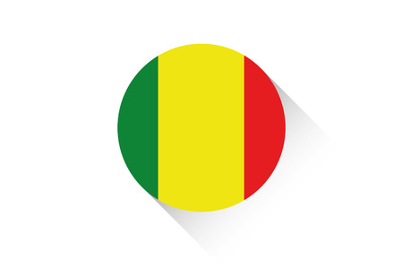 ensign: A Round flag with shadow of Mali