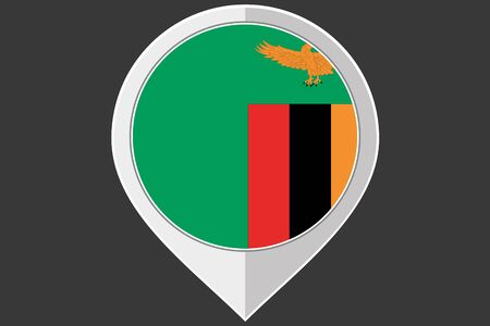 zambia: A Pointer with the flag of Zambia