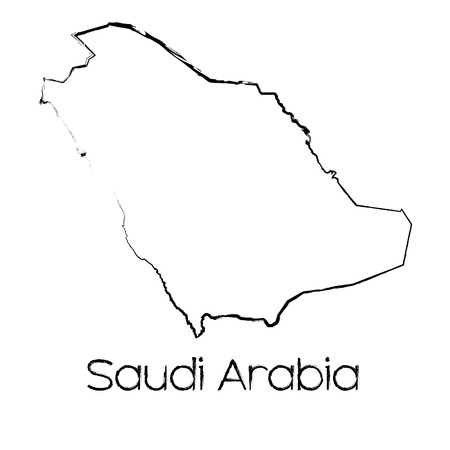 scribbled: A Scribbled Shape of the Country of Saudi Arabia