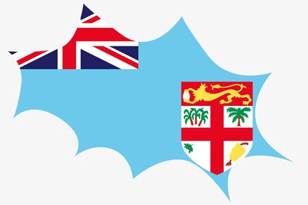 fiji: An Explosion wit the flag of Fiji Illustration