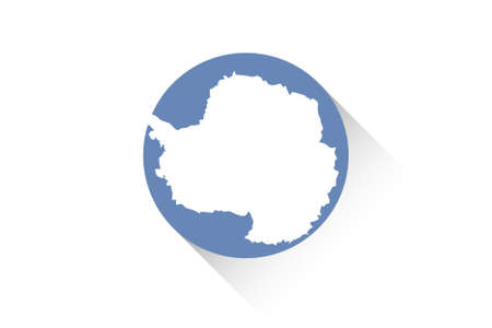 antartica: A Round flag with shadow of Antartica
