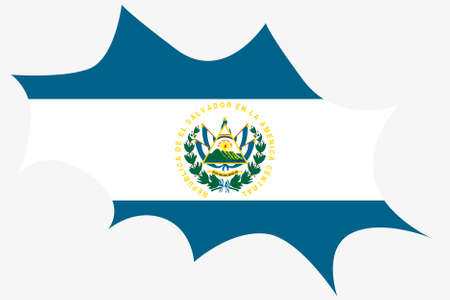 ensign: An Explosion wit the flag of El Salvador