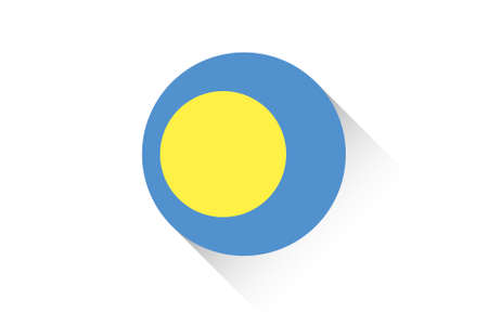ensign: A Round flag with shadow of Palau