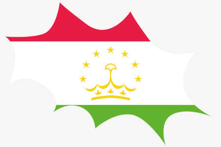 tajikistan: An Explosion wit the flag of Tajikistan Illustration
