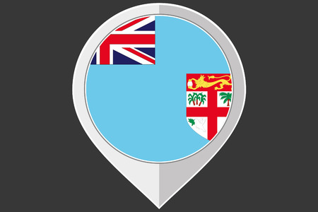 fiji: A Pointer with the flag of Fiji