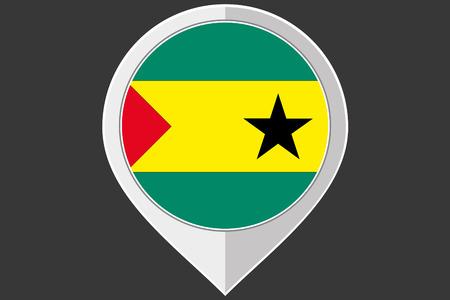 principe: Un indicador con la bandera de Santo Tomé y Príncipe