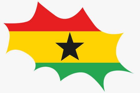 ghana: An Explosion wit the flag of Ghana