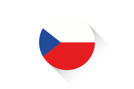 ensign: A Round flag with shadow of Czech Republic