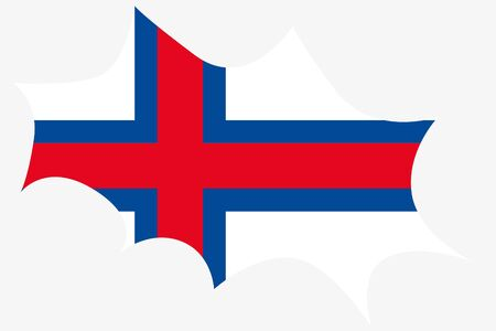 wit: An Explosion wit the flag of Faroe Islands
