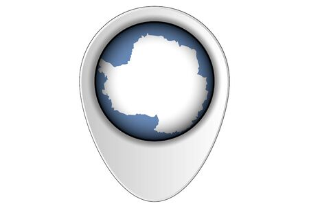 antartica: A 3D Map Pointer Flag Illustration of the country of  Antartica