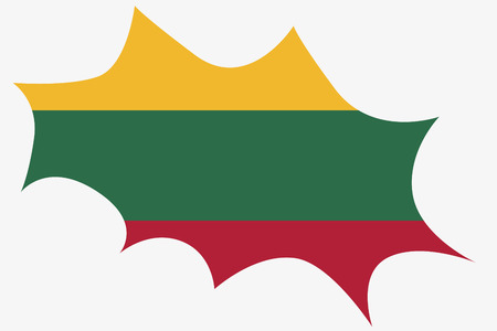 lithuania: An Explosion wit the flag of Lithuania