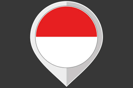 indonesia culture: A Pointer with the flag of Indonesia