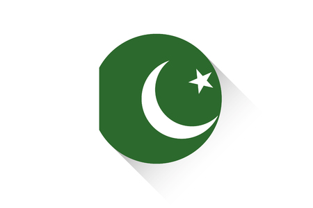 ensign: A Round flag with shadow of Pakistan