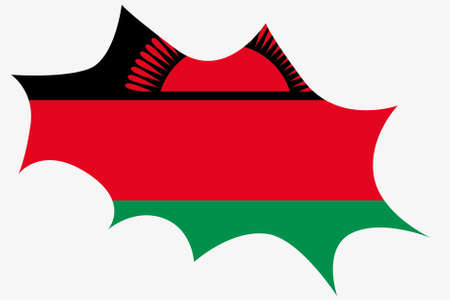 wit: An Explosion wit the flag of Malawi