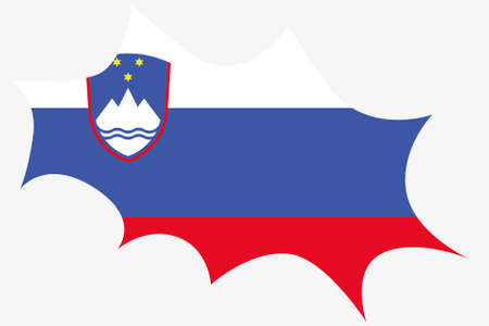 wit: An Explosion wit the flag of Slovenia Illustration
