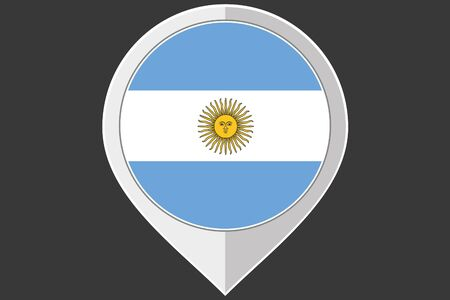 ensign: A Pointer with the flag of Argentina Illustration