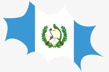 ensign: An Explosion wit the flag of Guatemala