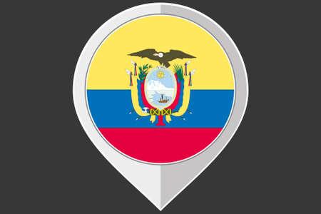 ecuador: A Pointer with the flag of Ecuador Stock Illustratie