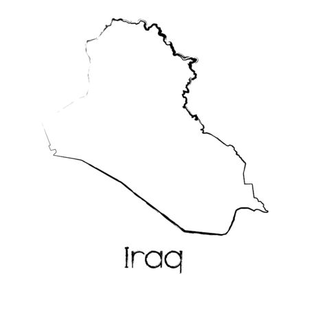 scribbled: A Scribbled Shape of the Country of Iraq