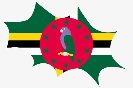 dominica: An Explosion wit the flag of Dominica