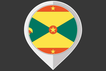 grenada: A Pointer with the flag of Grenada Illustration