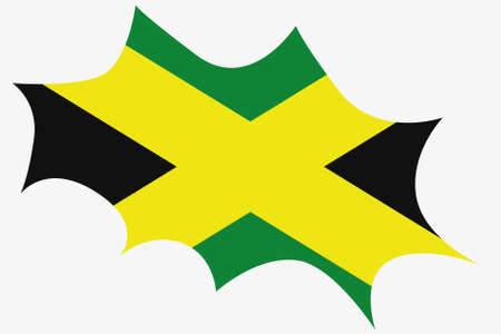 wit: An Explosion wit the flag of Jamaica Illustration
