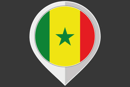 senegal: A Pointer with the flag of Senegal