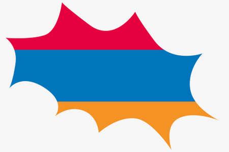 armenia: An Explosion wit the flag of Armenia