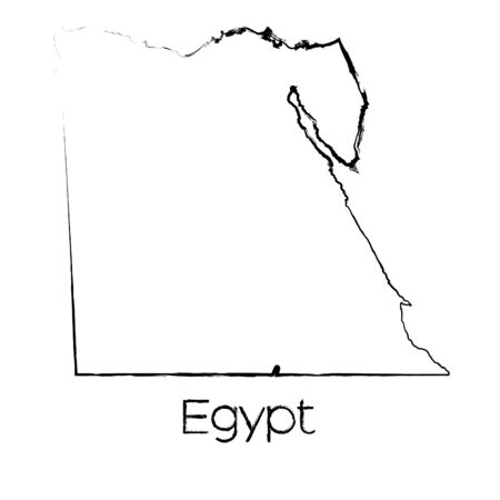 scribbled: A Scribbled Shape of the Country of Egypt