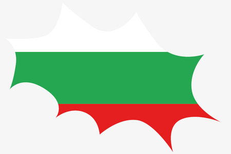 wit: An Explosion wit the flag of Bulgaria