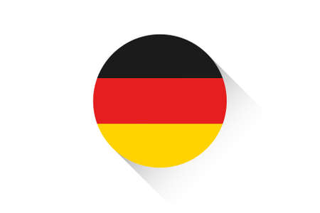 ensign: A Round flag with shadow of Germany Illustration