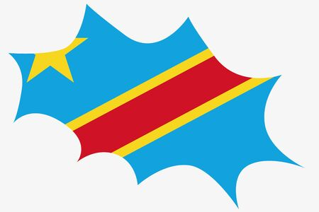 democratic republic of the congo: An Explosion wit the flag of Democratic Republic of Congo