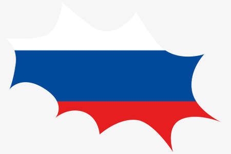 ensign: An Explosion wit the flag of Russia