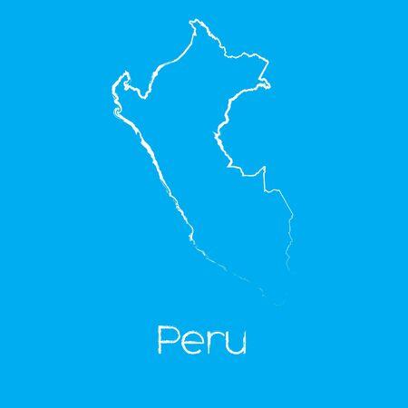 mapa del peru: Un mapa del país de Perú