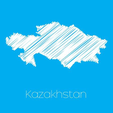 kazakhstan: A Map of the country of Kazakhstan Stock Photo