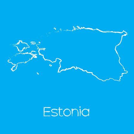 estonia: A Map of the country of Estonia Stock Photo
