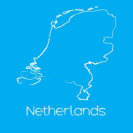 netherlands: A Map of the country of Netherlands