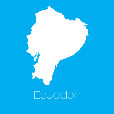 A Map of the country of Ecuador Stock Photo - 44911344