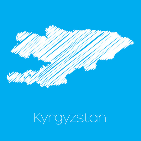 kyrgyzstan: A Map of the country of Kyrgyzstan