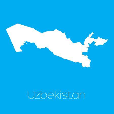 uzbekistan: A Map of the country of Uzbekistan