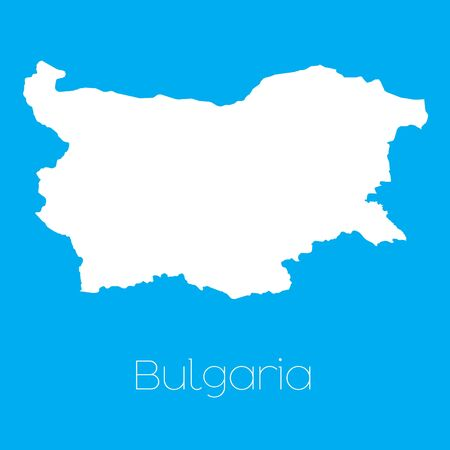 bulgaria: A Map of the country of Bulgaria