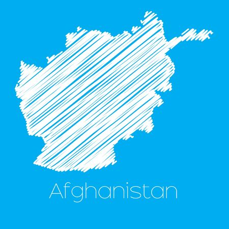 afghanistan: A Map of the country of Afghanistan Illustration