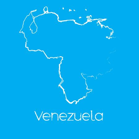 venezuela: A Map of the country of Venezuela Illustration