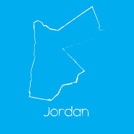 jordan: A Map of the country of Jordan