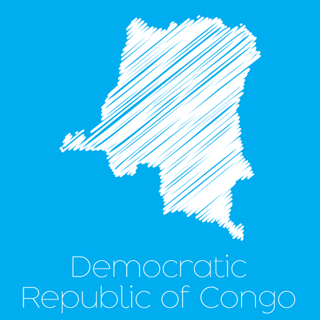congo: A Map of the country of Democratic Republic of Congo Illustration